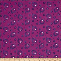 Joyful Large Paisley Purple