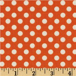 Riley Blake Le Creme Basics Small Dots Orange/Cream