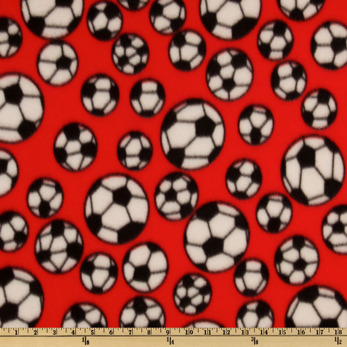 INOpets.com Anything for Pets Parents & Their Pets Sports Fleece Soccer Balls Red Fabric