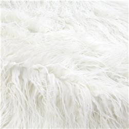 Luxury Faux Fur Curly Yak White