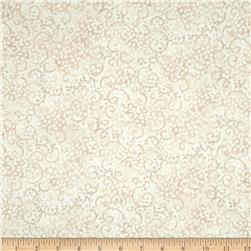 Essentials Leafy Scroll Whipped Cream Fabric