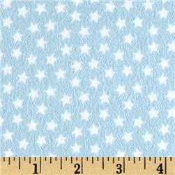 Riley Blake Lucky Star Flannel Star Blue