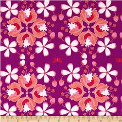 Hot House Flowers Floral Allover Orchid