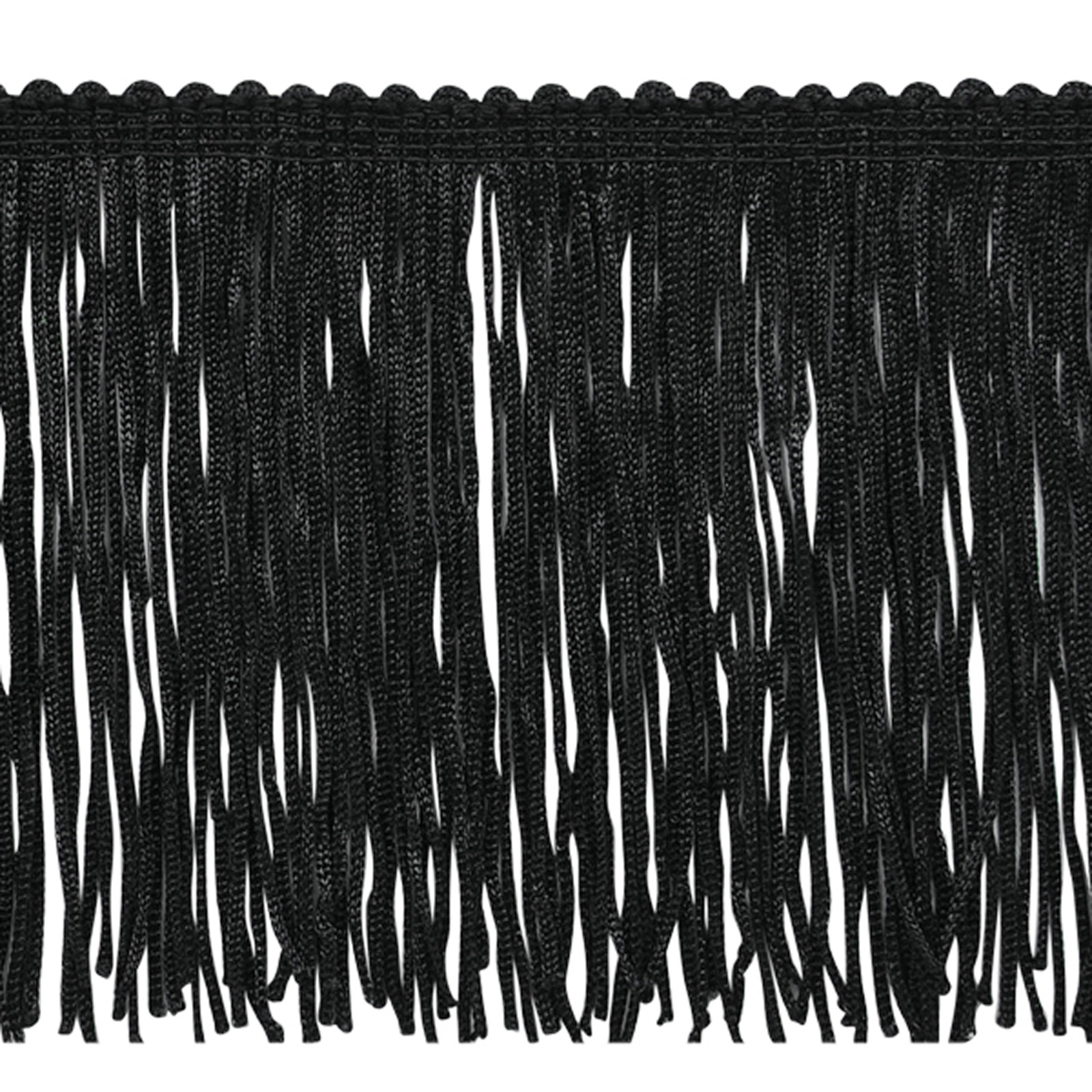 4'' Stretch Chainette Fringe Trim Black by Expo in USA