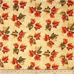 Maple Lane Metallic Leaves Cream