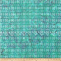 Indian Batik Montego Bay Patchwork  Teal/Purple/Silver