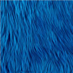 Faux Fur Luxury Shag Cobalt