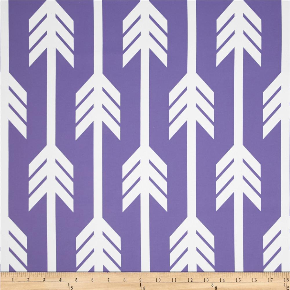 RCA Arrows Blackout Drapery Fabrics Purple/White