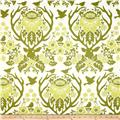 Joel Dewberry Birch Farm Home Decor Sateen Antler Damask Sage
