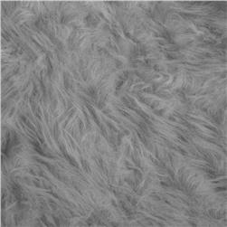 Coarse Hair Faux Fur Silver
