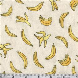 Moda Funky Monkey Flannel Bananas Cream
