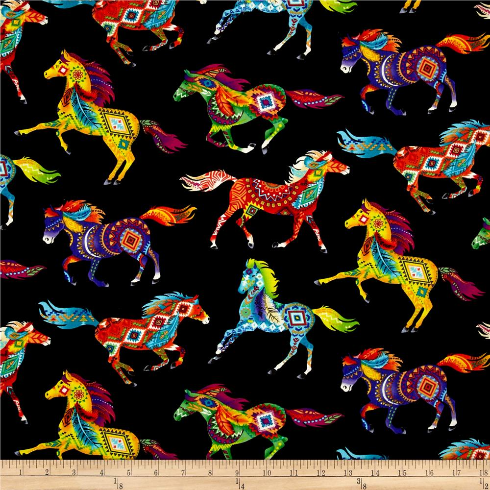 Timeless Treasures Out West Southwest Horses Brite - Discount ... : horse material for quilts - Adamdwight.com