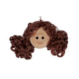Wood Button 7/8'' Laura Doll Face Brown