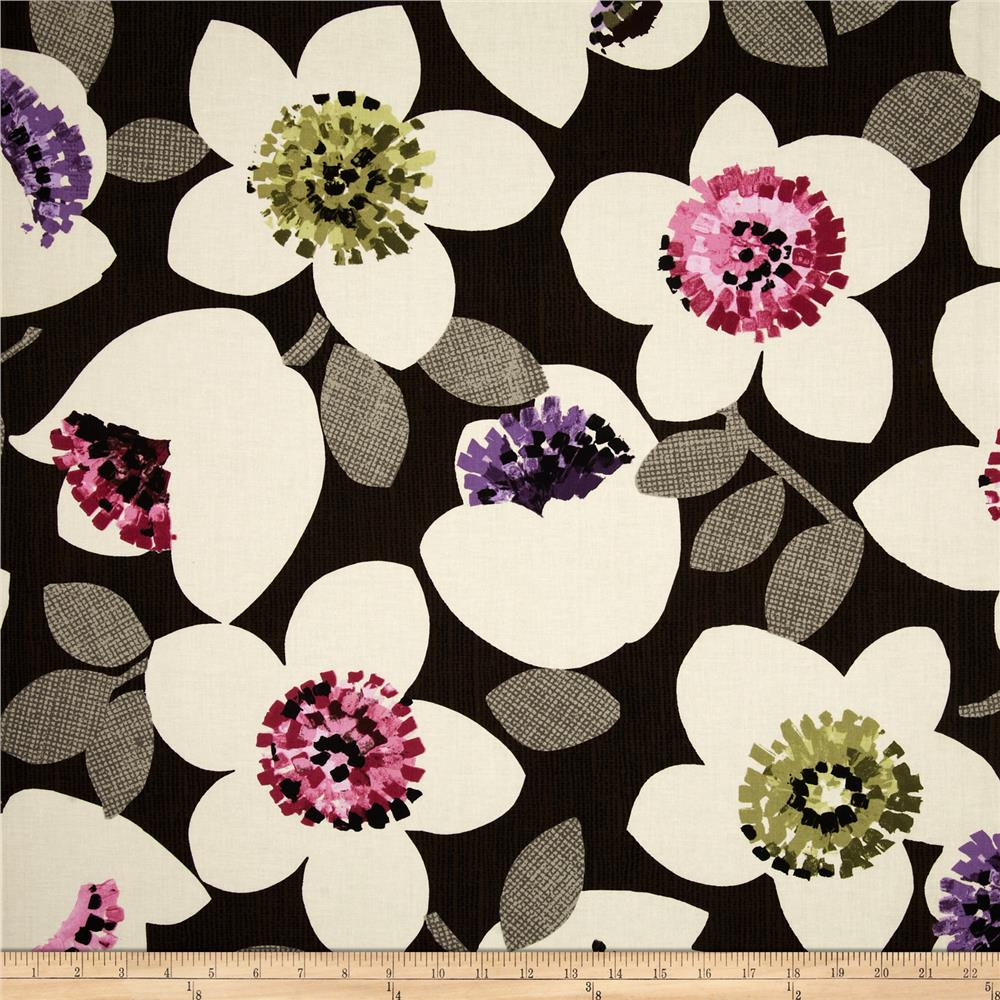 Contempo Cachet Large Floral Pink/Brown