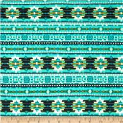 Viva Hatchi Sweater Knit Aztec Aqua