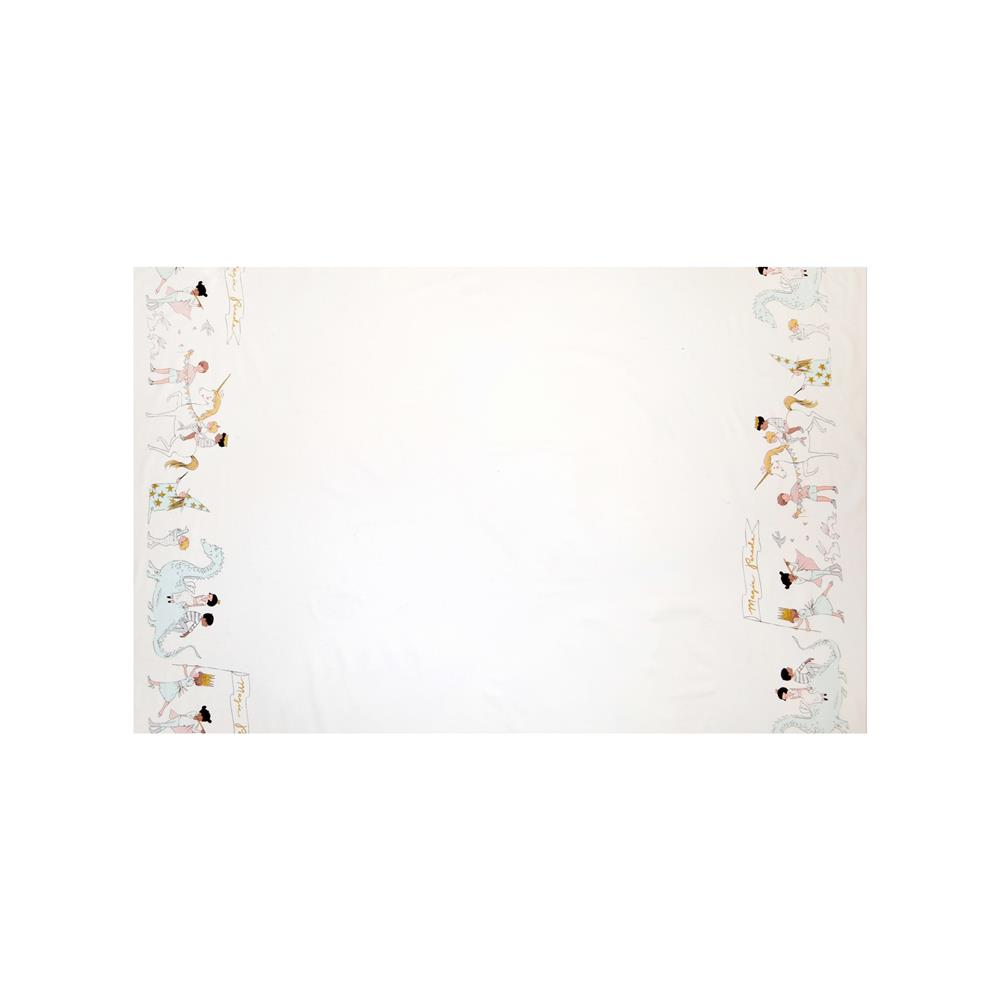 Michael Miller Sarah Jane Magic Metallic Magical Parade Double Border White
