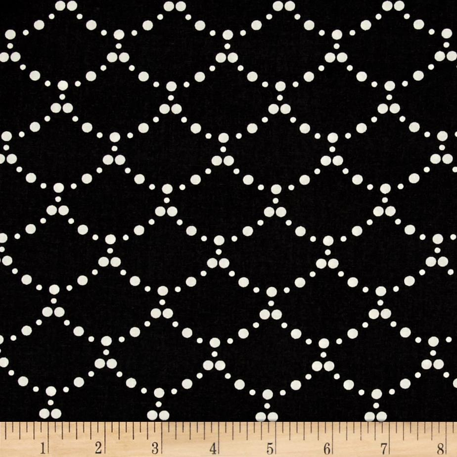 Art Gallery Millie Fleur Ripples Black Fabric
