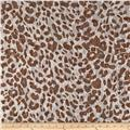 Stretch Safari Lace Spots Brown/White