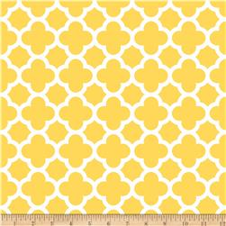 Riley Blake Medium Quatrefoil Yellow Fabric