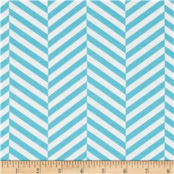 Design Studio Herringbone Blue Fabric