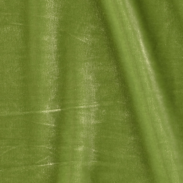 Stretch Velvet Medium Olive Fabric