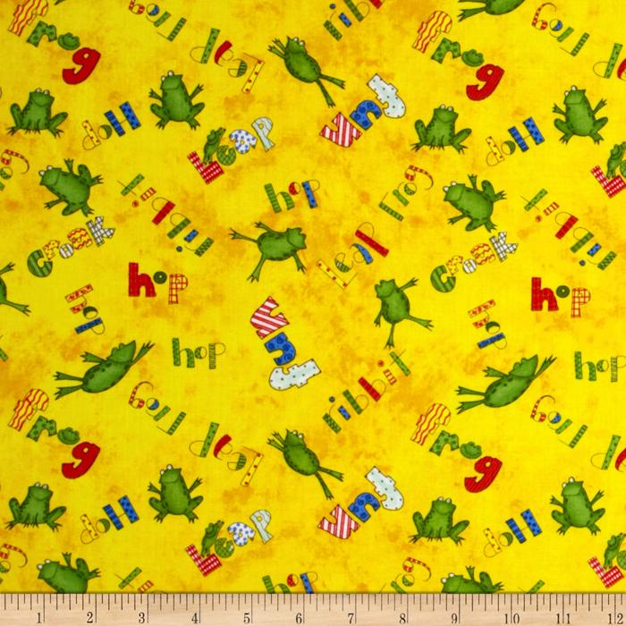 Froggy Fun Word Toss Yellow