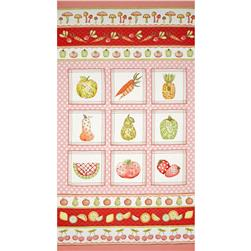 Fruitful Hands Panel Pink