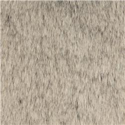 Luxury Faux Fur Tip Dyed Sable Fur Silver Frost