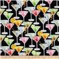 Timeless Treasures Metallic Happy Hour Martini Glasses Black