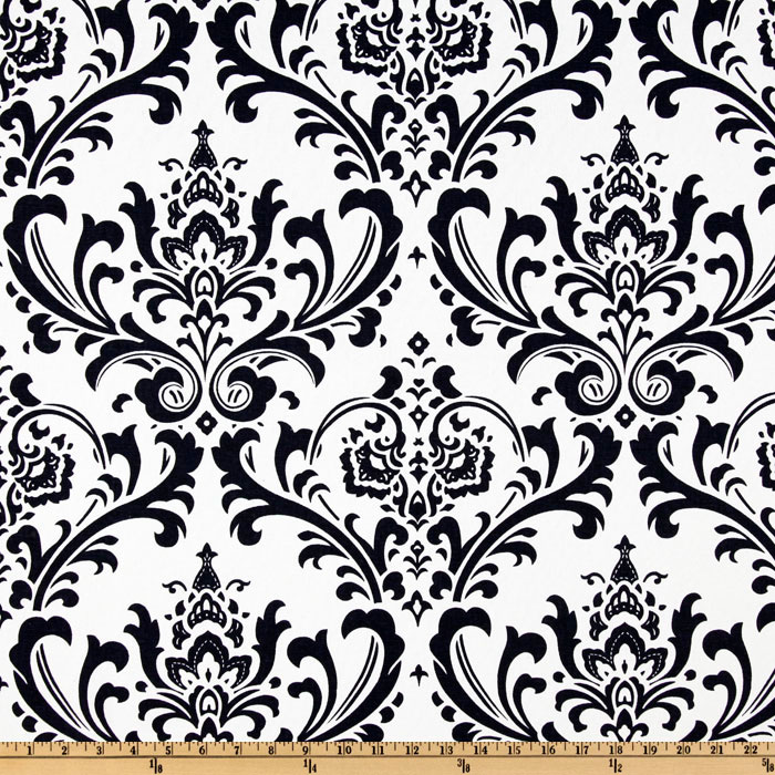 Premier Prints Traditions White/Navy Blue Fabric