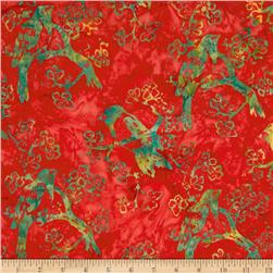 Bali Batik Birds Hot Orange