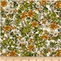 Kaufman London Calling Lawn Floral Olive