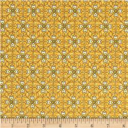 Vintage Sunshine Swirly Yellow