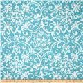 P Kaufmann Indoor/Outdoor Print Affair Caribbean Blue