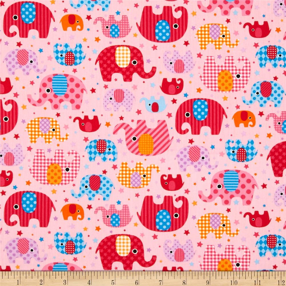 Seven Islands Elephants Pink