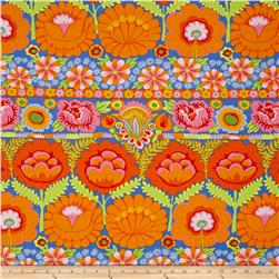 Artisan by Kaffe Fasset Embroidered Flower Orange