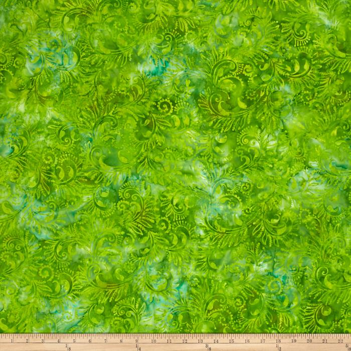 Wilmington Batiks Florentine Lime Green