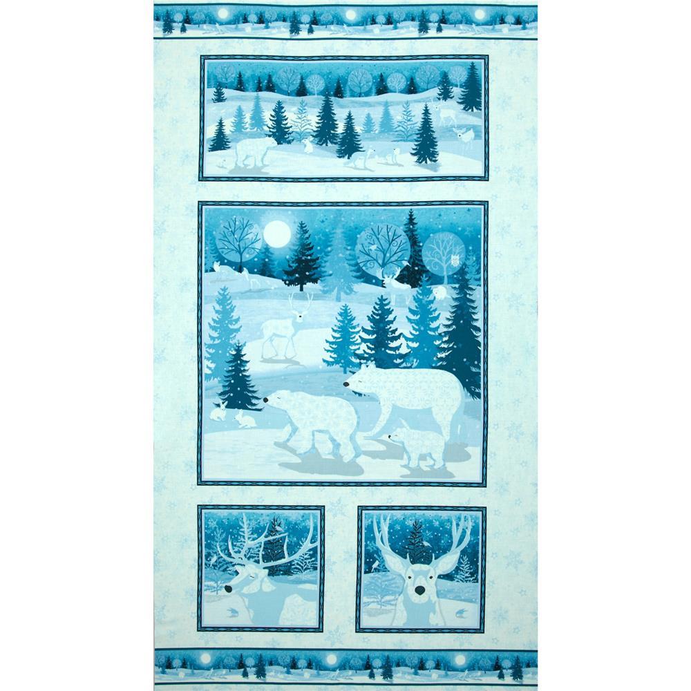 "Winter Frost 24"" Panel Blue"