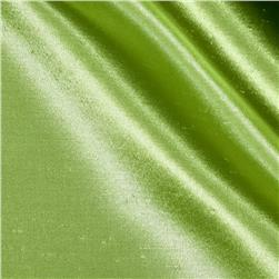 Shantung Sateen Dark Lime Fabric