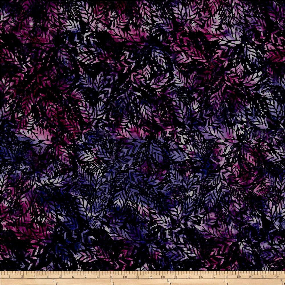 Wilmington Batiks Long Leaves Dark Purple