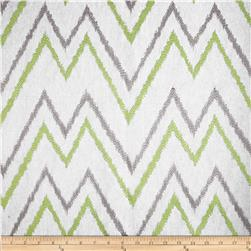 Duralee Home Embroidered Levi Chevron Celery Fabric