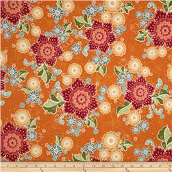 Riley Blake Flutter Floral Orange