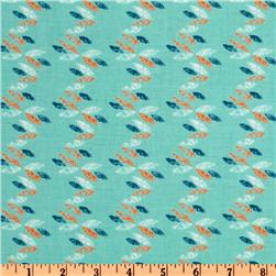 Imperial Pheasant Feather Stripe Teal