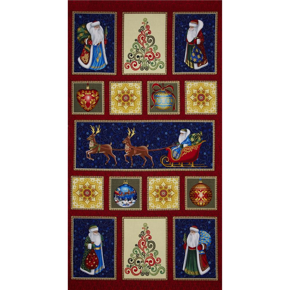 Father Frost Metallic Father Frost Panel Multi