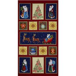 Father Frost Metallic Father Frost Panel Multi Fabric