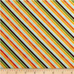 Riley Blake Unicorn & Rainbows Stripe Orange