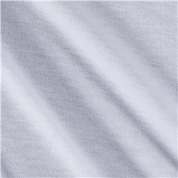French Terry Knit Solid True White