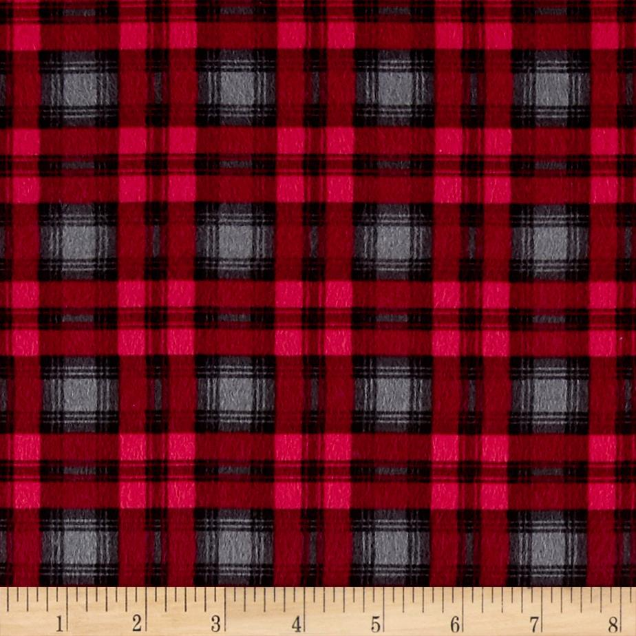 Timeless treasures oxford flannel preppy plaid grey for Flannel fabric