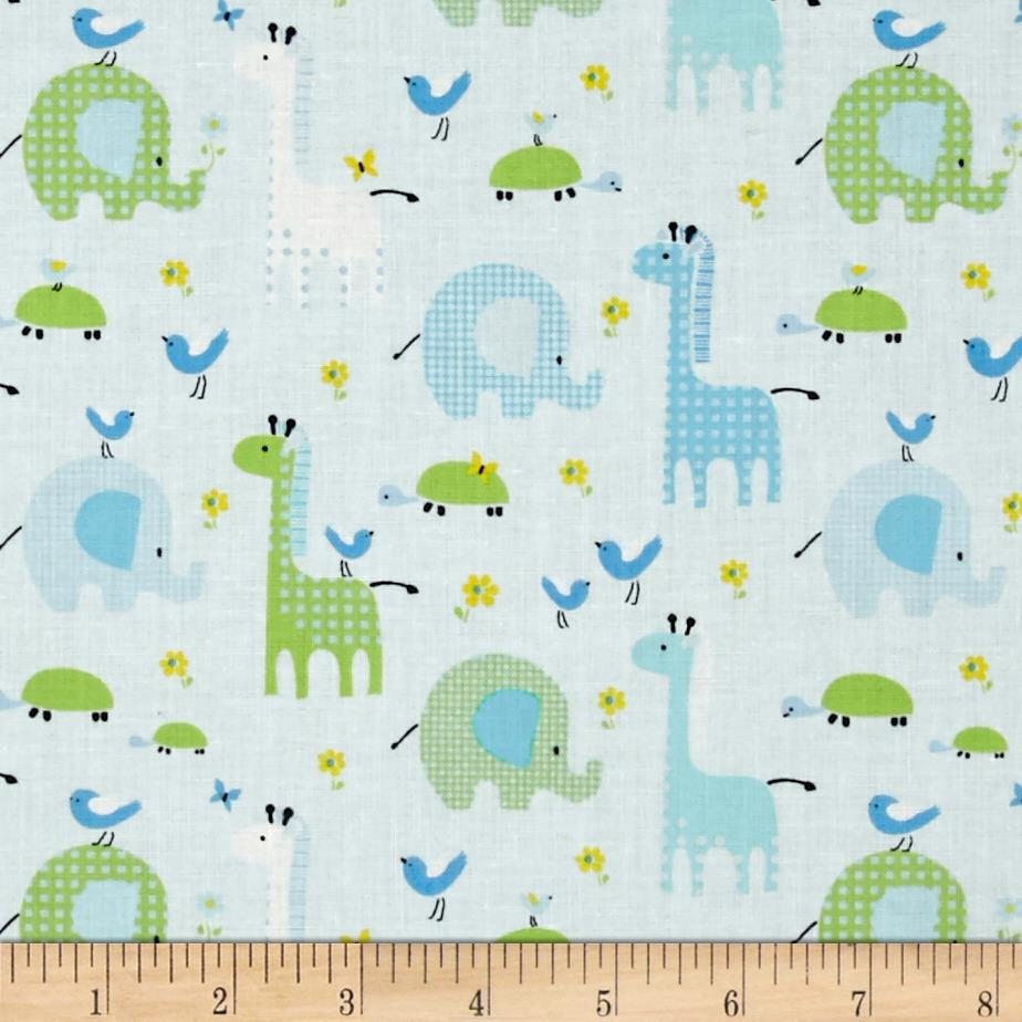 Bobo baby bobo friends lt blue discount designer for Cheap baby fabric