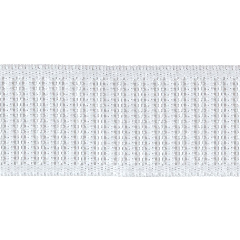 "1-1/4"" Non-Roll Ribbed Elastic White - By the Yard"